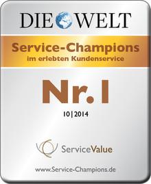 Service-Champions 2014 - Deutschlands größtes Service-Ranking
