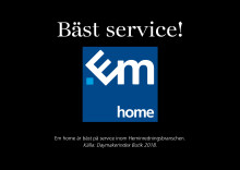 Em home – bäst på service inom heminredning!