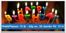 WebbPlatsen firar sitt femtonårsjubileum med generösa erbjudanden