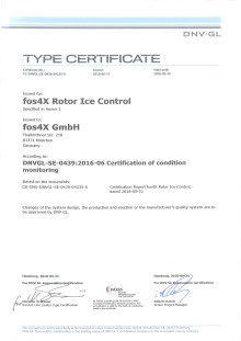 Rotor Ice Control Certificate