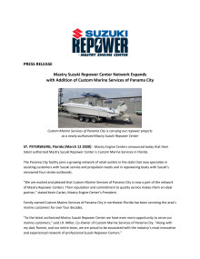 Mastry Suzuki Repower Center Network Expands with Addition of Custom Marine Services of Panama City