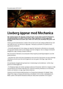 Pressmaterial Mechanica - Lisebergs nyhet 2015