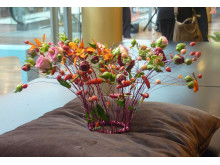 Blomstersmycke av Johan Pettersson, Interflora Fresh Floristkompaniet i Stockholm.