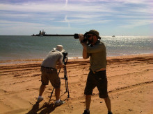 Filming for automated mooring shoot gets underway at Port Hedland. #Cavotecfilm #mooring
