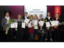 Winners of Vinordic Wine Challenge 2012