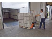 BT Lifter med viktindikator - ger en uppskattning av lastvikten samtidigt som godset förflyttas