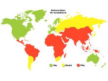 Riskområden för turistdiarré