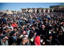 Tusentals väntar på att komma in i Tunisien