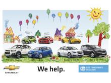 Chevrolet Europe skänker bilar till Barnbyar