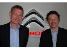 Bild på företagsledning Rejmes PV i Halland och Citroën Sverige