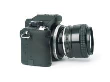 Lensbaby Tilt Transformer på kamera