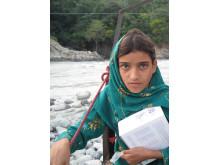 Sapna åker linbana över Swatfloden