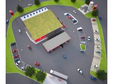 OKQ8 öppnar Europas första hållbara bensinstation