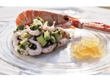 Granité på Citron & Lime, serveras till marinerade skaldjur
