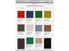 Fabrics and textiles from Uddebo Weaveri available on  the BIMobject Portal - screenshot from Pinterest