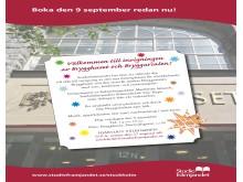 Pressinbjudan till invigningen av Studiefrämjandets nya hus - Brygghuset och Bryggarsalen