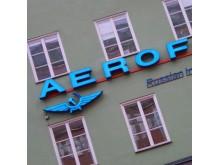 Neonskylt Aeroflot