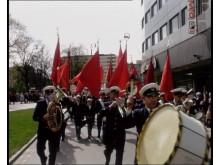 1 maj 1967, trumma. Från Här & Då - historisk film på stan under Nordisk Panorama