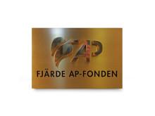 Metallskylt Fjärde ap-fonden