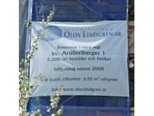 Banderoll Olov Lindgren