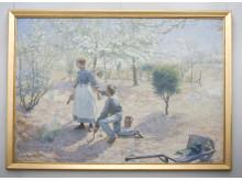 """Konstverket """"Vår"""" målad av Gottfrid Kallstenius 1892"""