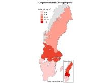 Färre lingon i Norrland