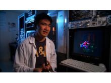 Marshall Zhang, budding scientist
