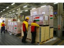 DHL Express og Lufthansa Cargo hjælper EU-Kommissionen ved at donere nødhjælpsfly  til Japan
