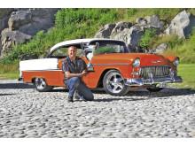 Bjørn Larsen från Trøgstad tog hem den största pokalen under årets Bilsport Classic Grensetreff i Halden. Hans Chevrolet Bel Air 1955 utsågs till Norges Flotteste Bil 2012.
