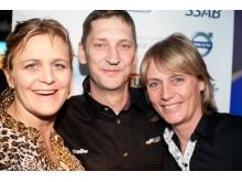 Tina Thörner, Pelle Wallentheim och Jutta Kleinschmidt