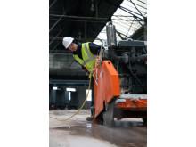Ny diamantklinge med længere levetid til hård beton - Anvendelse