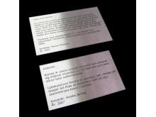 Metallskylt Konstverks-info