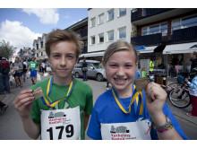 Strömmingsloppet deltagare nr: 179 och 181, Gustav och Lina Niland