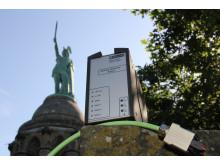Prisvindende Lightning Monitoring System til monumentet Hermansdenkmal i Detmold, Tyskland