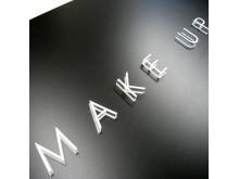 Ljuskylt Make up store