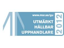 Logo utmärkt hållbar upphandlare 2012