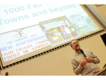 Bruce Crowther at 5th International Fair Trade Towns Conference
