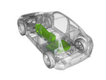 Optional battery packaging in a Battery Electric Vehicle