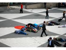 Flashmob mot rattfylla på Sergels torg
