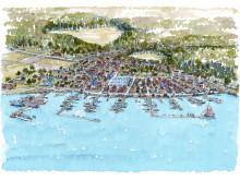 Väsby sjöstad vid Sättra
