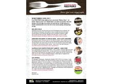 FOOD PEOPLE nyhetsbrev Juni 2011