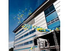 Strängnäs opening ceremony, balloons