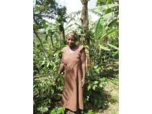 Småbrukande bonde i Uganda