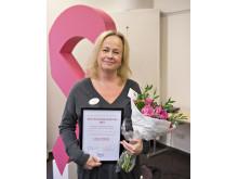 Lotta Ekholm, blev utsedd till årets bröstsjuksköterska 2015. Foto: Håkan Flank