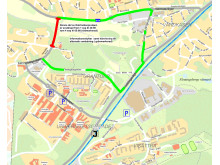 Karta Katrinebergsvägen.