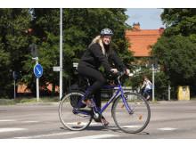 Var tredje trafikant som hamnar på sjukhus är en cyklist
