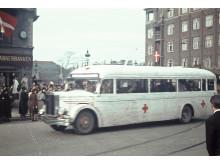 De Hvide Busser - farvebillede fra befrielsen
