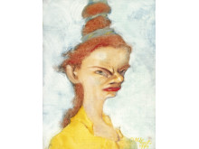 Olli Lyytikäinen, Argbiggan / The Shrew, 1974. Olja på papper / Oil on paper