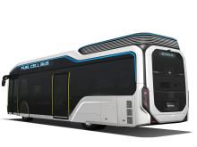 Automatik styr och bromsar bussen när den närmar sig en hållplats
