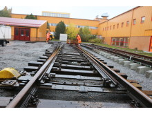 Järnvägsväxel på Luleå tekniska universitet